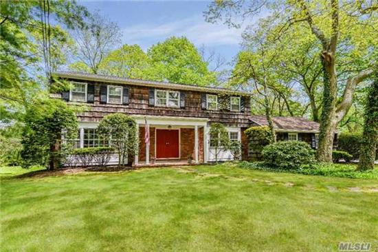 Immaculate Updated 4 Bedroom 2.5 Bath Ch Colonial In Harborfields-Hardwood Floors, Cac, Fireplace In Family Room, French Doors To Deck. Updated Kitchen! Over 1 Acre At The End Of Cul-De-Sac! Great Opportunity In Salem Ridge Area.