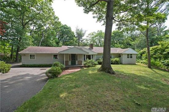 Great Opportunity To Live On This Beautiful Street. Expanded Ranch With Five Bedroom, 2 1/2 Baths Waiting To Be Updated-- Flexible Floor Plan. Serene Location. Gunite Pool For Entertaining. Laurel Hollow Beach And Mooring. Cold Spring Harbor Schools. Make This Your Dream Home!