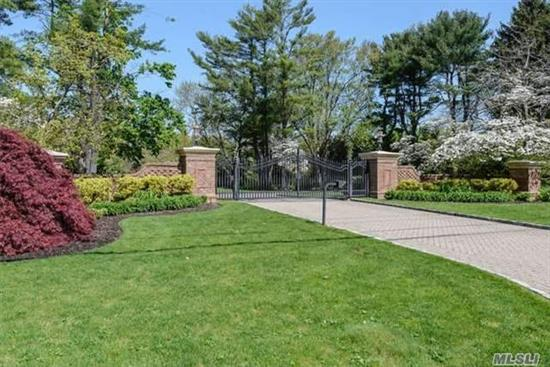Build Your Dream Home On Arguably One Of The Most Beautiful Parcels In Brookville. Gated Level Land With Mature Trees Located On A Beautiful Quiet Cul De Sac. Also Available On Mls # 2827747 Which Is A Luxurious 6 Bedroom Colonial With Pool, Cabana, Tennis, Basketball Court On 5.3 Acres With The 2 Acre Build-Able Lot Included. Jericho Sd.