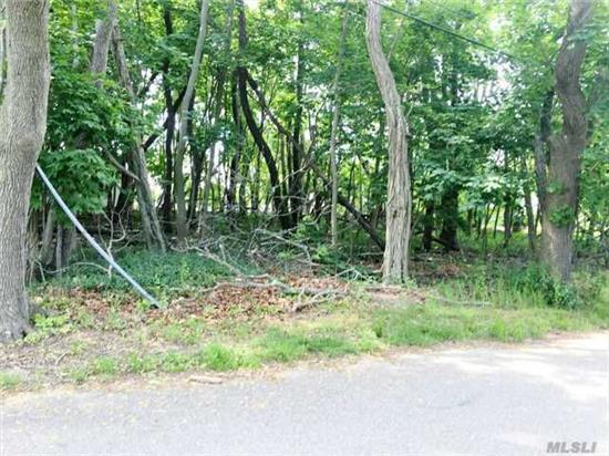 Corner 1/2 Acre Wooded Lot With Public Water In The Street. Located Close To Town, Wineries, Beaches And More.