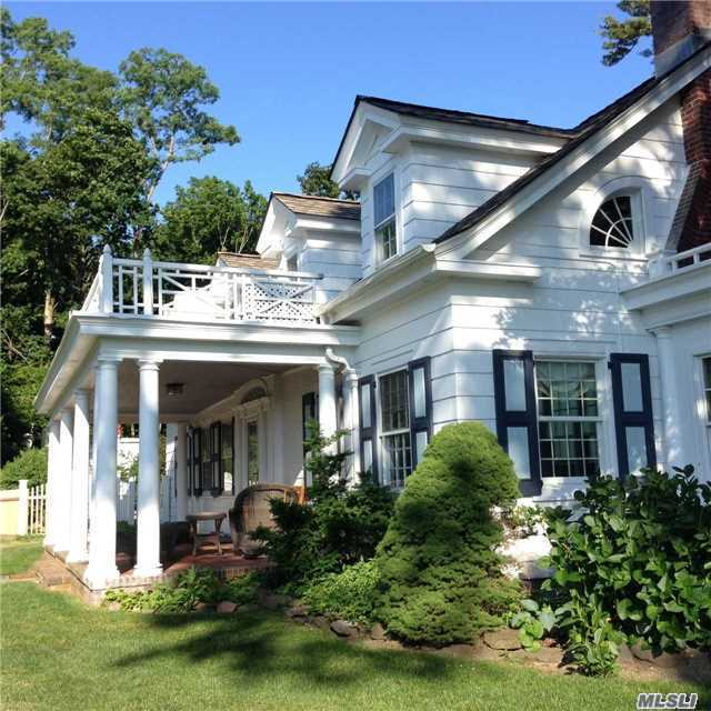 Antique Lovers Will Relish This Completely Updated Turn Of The Century Traditional Home Prominently Set On Hill Top / Spectacular Views Of Pj Harbor & Village. Updated Eik, High End Appliances & Heated Igp. Boutique Village, Ferry, Restaurants & Private Beaches Makes Perfect Life Style In The Heart Of Port Jefferson Village! Two Driveways. Office Space Above Garage!