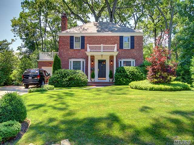 Flower Hill Pristine Center Hall Colonial Totally Renovated And Expanded, Completed With All High End Mechanicals, Equipment And Style: Beautiful Backyard, Privacy Plantings, Deck And Separate Patio: Spacious Family Room Off Eik, Inviting Year Round Sun-Room,  Formal Dr, Gracious Lr/Fplc: All 4 Bedrooms Are On The 2nd Floor With 2 Lg Baths: Parking At The Port Wash Rr