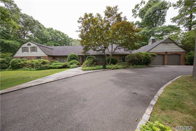 Sprawling 4, 000+ Sq. Ft. Ranch With Capability To Finish 2nd Floor. This Beautiful Home Sits On 2+ Flat Acres In Oyster Bay Estates, Syosset Sd, There Is A Huge Walk-Out Basement & Outside Entrance. 2 Car Garage