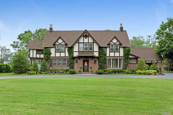 Waterfront. Traditional English Tudor On 2 Acres Of Estate Grounds In Exclusive O-Co-Nee Estates. New Roof, New Gas  Heating, New Cac, And New Patio W/Pool. New 125 Ft Of Bulk-Heading And Dock( Water, Power, Lights) Deep Water)+ 3 Boatslips . Detached 2 Car Garage With 1Br/1Bth Maid's Quarters. Boathouse With Private Driveway . Igs W/Private Well.Hoa