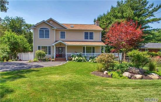 This 4 Bed, 3.5 Bath Centereach Coloinal Was Totally Remolded. This Home Boasts 2 Master Bedrooms W/Ensuite's, One On Each Floor. Nicely Set-Up For Mom Or Extended Family, This Great Eik Has Granite Counter Tops And Ss Appliances. Hw Floors Throughout. All Baths Updated Fully Fenced, Flat Backyard With Mature Landscaping & Od Kitchen & Koi Pond. Granny Porch, Cac, C-Vac.Ose,