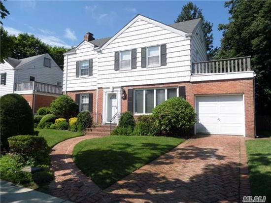 Classic Center Hall Colonial With Unlimited Potential. 3 Finished Levels, Oversized Bedrooms, Cac, Whole House Water Filter, Alarm, Sprinkler System, New Boiler And Hot Water Heater.