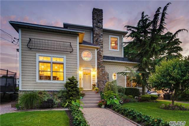 Completely Renovated & Expanded 4 Bedroom 4 Bath Gable W/ State Of The Art Chef's Kitchen,  Coffered Ceilings,  Hardwood Floors W/ Inlay,  Full Finished Basement,  Unground Salt Water & Heated Pool W/ Bluestone Pavers,  Trex Deck & Large Garage.