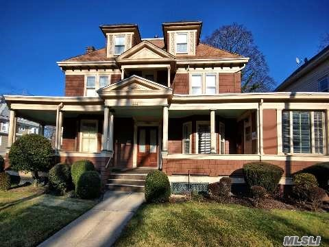 Southern Gateway To Huntington Village. Grand Victorian Built In 1920. Zoned Residential/Commercial (C6). 6 Rooms On First Floor, 4 Bedroom, 2 Full Baths Apt. On 2nd Floor. Busy Corner/Dewey!