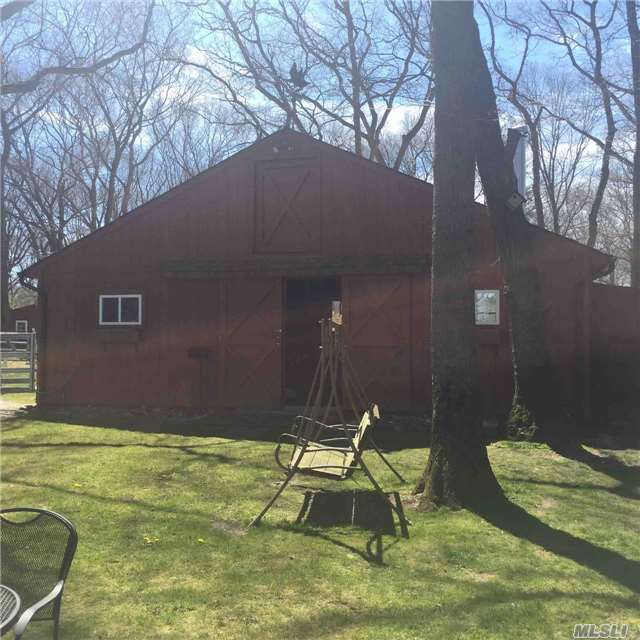 Beautiful Horse Property, Zoned For 4 Horse, Bridal Path On Block, Barn With Riding Ring, Hardwood Floors, Dead End Street, Use Of Indoor Riding Ring Across Street, Move In Condition!