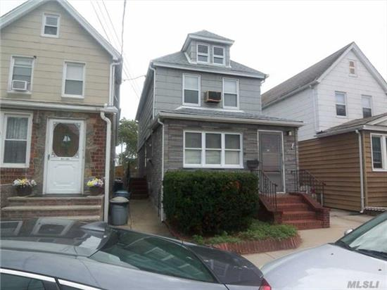 Legal Two Family, First Floor Needs New Kit & Finish Bathroom. Second Floor Complete. Great Mid Block Location, Pvt Driveway, Close To All Transportation . Burner [Oil ] Just Converted To Ghw . New Roof 2014. New Windo