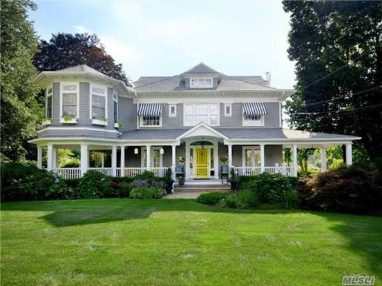 Victorian Splendor.Located On Over-Sized Grounds Sits This Majestic Totally Renovated Home. This Home, Renovated With The Finest Materials, Features Huge Rooms, 3 Fireplaces, A Master Suite With Lg Wi Closet, A Tower Room, Laundry On 2nd Floor, Huge Eik, Wrap-Around Porch, Large, Private Back Yard With Igp And Lush Landscp'g, Igs, Cac, Port Cochere, Ns Schls, Beach Privileges