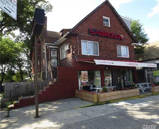 Mix Use Property Located In The Busy Commercial Strips Of The Horace Harding Expway. It Is A Great Rent Generator With +5.25% Cap Rate. It Consists Of A Store Front, With Additional 3 Residential Units.