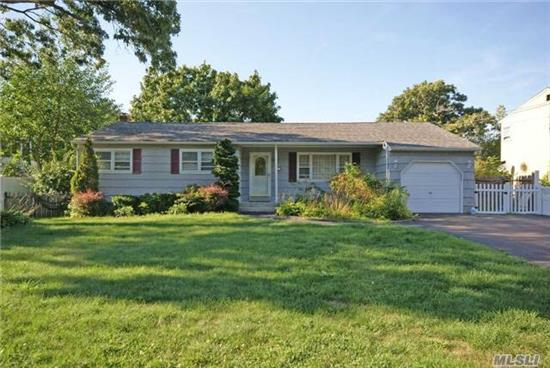 Immaculate Ranch With Open Floor Plan. This Spacious Home Offers Two Family Rooms, Galley Kitchen, Formal Dining Room, Three Bedrooms, 1 1/2 Baths, Full Unfinished Basement And One Car Garage. Enjoy Summer Evenings On The Out Door Patio. Perfect Starter Home Or Investment Property.