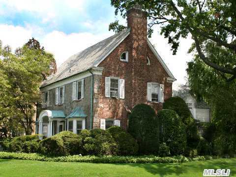 Classic Original Copper Roofed Portico With Double Columns. The First Floor Includes An Entry Foyer, Large Center Hall, An Elegant Living Room Formal Dining Room, All With Original Wide Board, Hand Pegged Oak Floors, A Classic Colonial Revival Working Fireplace, Copper Roofed Bay Windows