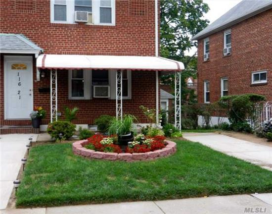 Lovely Brick Colonial House Features 4 Bedrooms And 2 Full Baths. Beautifully Maintained Home In Desirable Cambria Heights. 1 Car Detached Garage With Pvt Driveway And Finished Basement With Outside Entrance To Backyard. Home Is Located Near Transportation, Schools, Parks And Shopping.