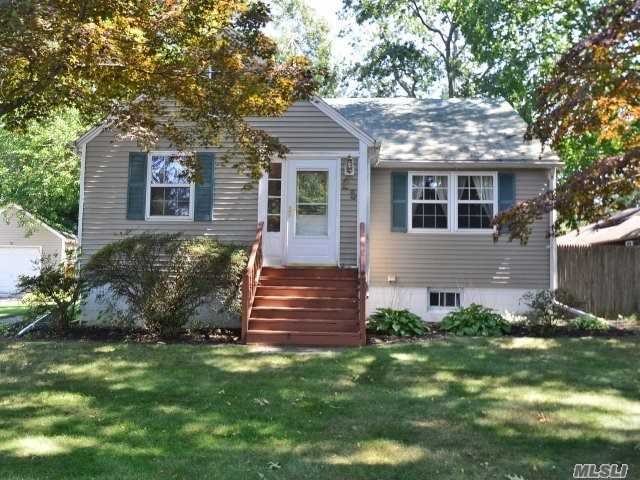 Fabulous 3 Bedroom Cape In Famed Miller Place Schools! Completely Renovated In 2000! Large Den, Dining Room, Pergo Floors, New Stainless Steel Dishwasher & Fridge, New Washer & Dryer, Freshly Painted, Newer Cesspool, 1.5 Car Detached Garage, Fully Fenced Yard, Must See!