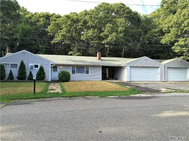 Beautiful 3 Bedroom, 2 Full Bath Ranch With A 4 Car Garage On A Half Acre Of Property. Updated Kitchen With New Appliances, Living Room With Fireplace, Formal Dining Room, New Heating System, Updated Electric, Generator Hook-Up And Security System. Sellers Are Open To Hear All Offers!