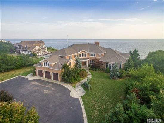 Bayfront With Docking, 7000 Sf All Brick Estate Home, 12 Rooms, 6 Bedrooms, 4 Full Baths, 1 Powder Room, Full Basement, 3 Car Garage, 1.1 Acres, Private Cul De Sac Location, Stunning 2 Story Foyer With Custom Artisanal Iron Stairway Railings, Gorgeous Views Of Great Southbay , Indoor 20X40 Gunite Pool, Very High End Bathrooms And Kitchen, High Elevation.