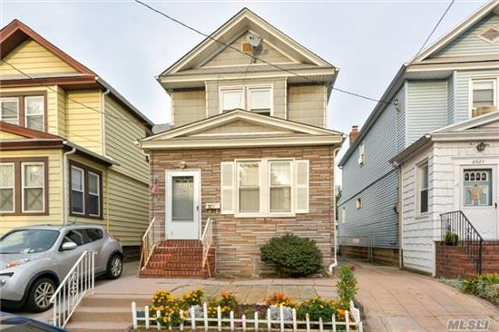 Two Family Conversion With An Extension.Private Driveway Plus One Car Garage. Great Block Close To Subway And Shopping.