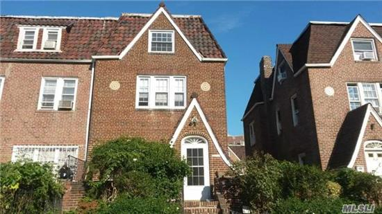 Pre War Large One Family With High Ceilings Fireplace New Windows And New Roof In Historic Jackson Heights Plus Three Parking Spots And A One Car Garage