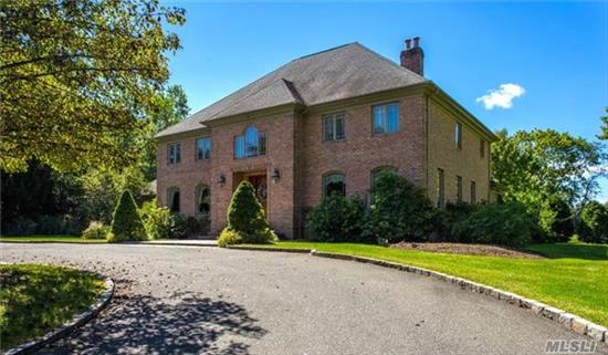 All Brick 6200 Sq. Ft. Center Hall Colonial. 2.6 Acres Of Flat Country Club Prop. Extensive Moldings And Millwork, Radiant Htd Flrs, Chefs Kitch, Butlers Pantry. Full Fin Bsmnt W/Party Rm, Wet Bar, Gym & Walk Out Ent. Backyard W/Heated Gunite Pool, Hot Tub + Stone Waterfall Wall, Extensive Bluestone Patio W/Built In Bbq +. Best Value In Area