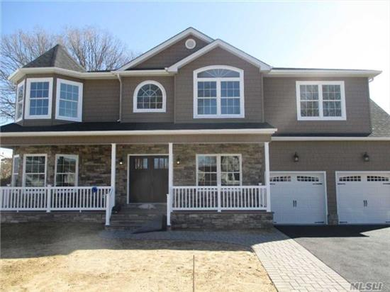 Prime N. Bellmore Loc. Time To Customize! Giant 3450 Sq Ft Ctr Hall Colonial W/ 2-Car Gar, 5 Bdrms, 3 Fbths, & Blustone Porch To-Be-Built On Enormous 10K Sq Ft Lot! Steel Beams Used Across Foundation For Wide Open Bsmt. Pella Wdws, Gorgeous Trimwork Throughout, Custom Wood Cabinetry/Vanities W/ Granite Ctops, Ss Prof Appls, +++! Photos Are Of Same Model Built Previously!