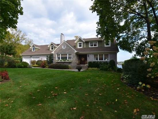 Beautifully Appointed With 82' Of Waterfront New To The Market. Totally Done Top To Bottom In The Past 6 Years...This Colonial Has It All! Walls Of Glass, Sweeping Water Views Of Northport Harbor, Top Of The Line Kitchen And Baths. Fantastic Master En Suite, 3/4 Additional Brr, 3.5 Baths, Igp 16X32 Sw, Fin Base, Ipae Decking And More!!!