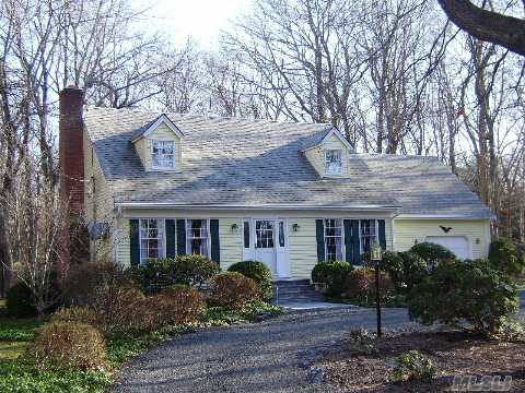Beautifully Maintained Cape W/Oak Floors Throughout-Igss On A Well, Bonus Room Over Garage- 9' Ceilings In Basement-Large Private Property, Superb Neighborhood Of High-End Large Properties, Walking Distance To Boat Ramp And Beautiful Bay Beach. Please Ask About 2% Preservation Tax On Properties Over $150,000