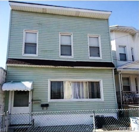 Great 2 Fam. Invest. Property; Sold As Is; Oak Floors/Ceramic Tiles; Bath/Kitchen Updates; Walk To Subway/Bus To Nyc. All Offers In Writing. Must Include Mtge Pre-Qual., Proof Of Funds, Income. Allow Min. 24Hrs For Showing. Both Units Tenant Occupied.