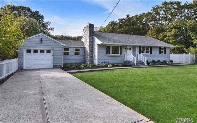 This Fabulous Renovated Horse Property In The Smithtown Pines Has A Stunning New Eik W/Quartz Tops & Ss, Lr/W Fplc, Formal Dr, Gorgeous Full Bath. Finished Basement W/Ose, Huge Laundry Rm, Full Bath, New Burner & Cac. Plus All New Roof, Siding, Anderson Windows, Igs, Deck, 2 Sheds & More.. Low Taxes, Hauppauge Schools & Short Trot To Byldenburg Park. This Home Has It All..