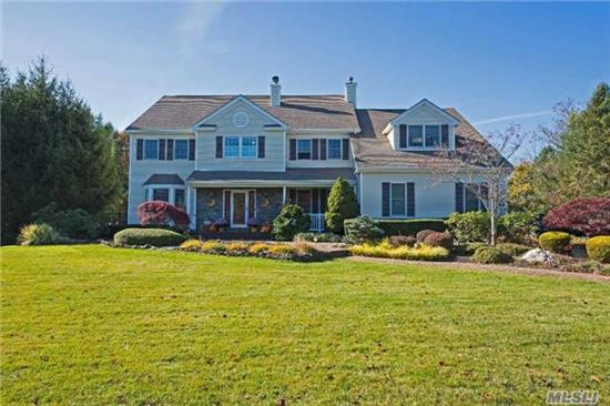 Stunning Estate On 1.54 Manicured, Usable Acres! Located In The Highly Sought After Mills Pond Estates, This 5 Br 3.5 Ba Diamond Colonial Has A Spacious, Open Flr Pln & Country Club Yard W Igp & New Jacuzzi. The Mstr Suite Boasts Soaring Vaulted Ceilings, Enormous Wic & Sitting Rm W Fireplace. Must See! Taxes Being Grieved.