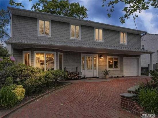 Magnificent Waterfront Home!Secluded Backyard W/Commercial Grade P.V.C. Bulkhead!Beautiful Splanch Featuring 5 Bdrms/3.5Bth, New Andersen Windows, Siding, Roof, Heating System, Front Load W/D, New S.S. Applcs, New Bath.All Large Bedrms, Master Suite W/Dressing Area&Fbth, Walk In Closets, Moments To Open Bay/Reynolds Channel, 20 Minutes To Jones Beach Inlet, Short Boat Ride To Beach.