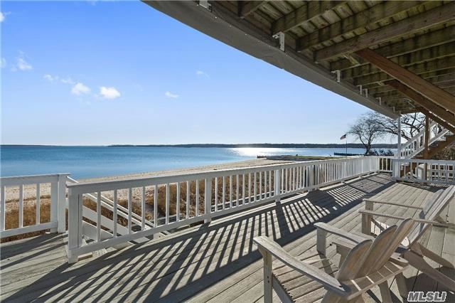 Stunning Beachfront Home Offering 6 Br, 4 Ba In The Sought After Founders Landing Section Of Southold. Enjoy Your Very Own Sandy Bay Beach As Well As Breathtaking Views Of Shelter Island. 4 Decks Provide Plenty Of Space To Entertain, And The Property Is Convenient To All The North Fork Has To Offer.