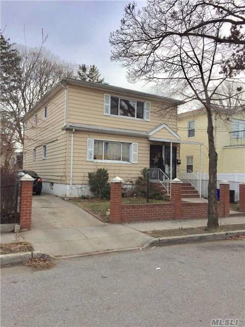 Great 2 Family Detached Investment Property In Springfield Gardens With 4000 Sq Ft Lot, Finished Basement , 6 Bedrooms, 2.5 Baths, 2 Boiler And Water Tank, Great Rental Income . Near Transportation, Belt Pkwy, Very Close To Kennedy Airport, And Green Acre Mall. Won't Last!!! Selling As Is.