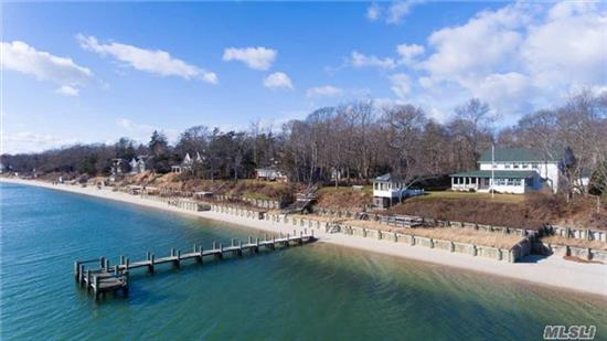 Peconic Bayfront. Shingled Classic With Sweeping Water Views. A Timeless Reflection Of The Special Character Of The North Fork. Built In 1906 And Meticulously Renovated In 2002, This 5 Br, 2.5 Bath Home Features Magnificent Views Of The Peconic Bay From The House, Porch, Gazebo And Beachfront Deck. Pristine Sandy Beach And 90' Dock. Few If Any Properties Can Compare.
