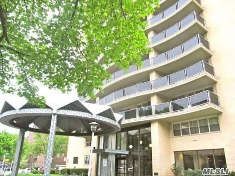 Birchwood Towers Enormous Jr4 Convertible 2Br Very Good Condition. Top Tier Luxury 24Hr Doorman Bldg. King Size 32Ft Private Balcony. All Utilities Included. Gorgeous Open Layout 1150+ Sqft. Huge Rooms, Tremendous Wall-To-Wall + Walkin Closets. Updated Kitch & Bath. Prestigious Renovated Lobby. Seasonal Heated Pool. Large Communal Terrace. 1 Block R/M Subway.Qm12 On Corner