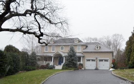 Magnificent Center Hall Colonial Located In Cul-De-Sac! Double Story Entry, Formal Living Room Leads To Great Room with Gas Fireplace, Stainless & Granite Eat in Kitchen, Butlers Pantry with Wine Refrigerator & Sink Leads To Formal Dining Room. Bedroom/Office & 1.5 Baths.  2nd Floor: Master Suite with Oversized His/Hers Walk in Closet with Built-Ins & Full Bath with Jacuzzi Tub, 3 Additional Bedrooms & Full Bath. Finished Basement with High Ceilings, Great Entertainment Space,    Outside Entry. Breathtaking Yard with Large Inground Saltwater Pool Surrounded By Lush Landscaping, Expansive Deck & Putting Green.