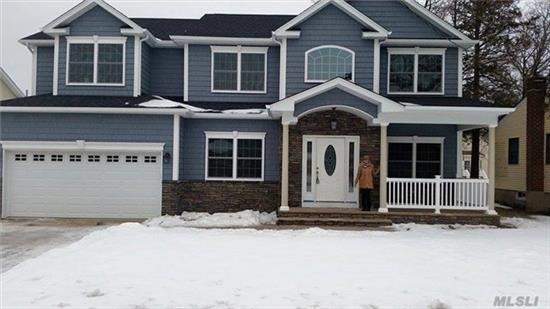 Stunning! 5 Br, 3Bth, Cntr Hall Colonial On Park Like Property In Desirable Plainview! Being Built Now! Now Is The Time To Customize! Gorgeous Eik With Stainless Appls, Hw Floors, Cac, 2 Car Garage, Vaulted Entry, Flr, Fdr, Igs, Custom Trim, Granite Counter Tops, Large Spacious Rooms... Must See!