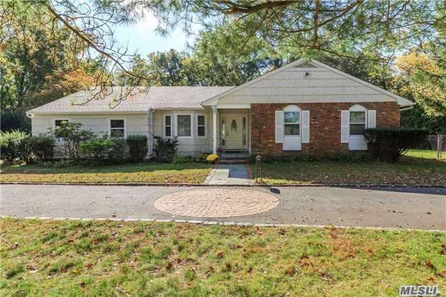 Award Winning Commack Schools! Sprawling Center Hall Expanded Ranch On A Secluded & Beautifully Manicured Acre With In Ground Swimming Pool Offers Complete Privacy And Tranquility Yet Near All Major Parkways. This Home Has So Much To Offer, Updated Roof, Updated 200Amp Electric, Pool Filter & Master Bath. It Is A Must See!