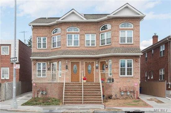Gorgeous Newly Built 2 Family Home With 2 Duplex Apartments. Must See!!