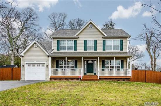 Move Right Into This Diamond Like New Colonial Featuring; Formal Lr & Dr, Eik With Granite Counters And Ss Appliances, Family Room Open To Kitchen, 3 Br, 2-1/2 Baths, Oak Floors, Custom Moldings, Full Unfinished Basement With High Ceilings, 1 Car Garage (Dbl Driveway), Beautiful Covered Front Porch, 80X125 Flat Fenced Property, A Must See!