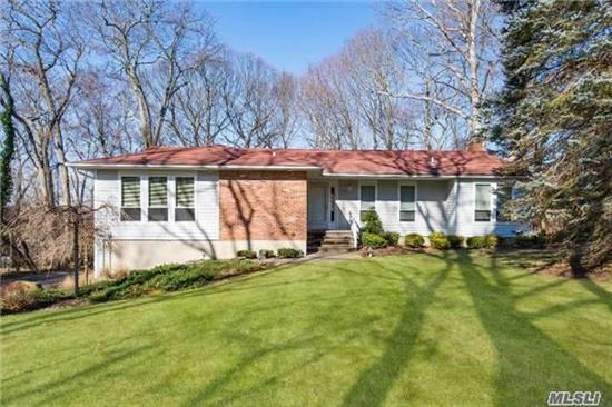 Beautiful Spacious Updated Ranch, 3391 Sq Ft! W/ Walk Out Lower Level. Possible Mother/Daughter, 2 Car Garage, Wooded Private Lot On Charming Secluded Stony Brook Cul-De-Sac. Walk To Down Town Shopping, Restaurants, Museum, Mill Pond, Avalon Park, And Harbor. Great Location! Desirable Three Village Schools! Close To Lirr & Stony Brook University.