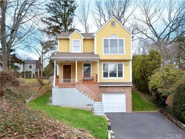 Located In The Famed North Shore School District Sits This Handsome 4 Br, 2.5 Bath Colonial Featuring Oversized Property, Brand New Central Air Conditioning, Roof, Furnace, Washer & Dryer And Bathroom. Beach Privileges