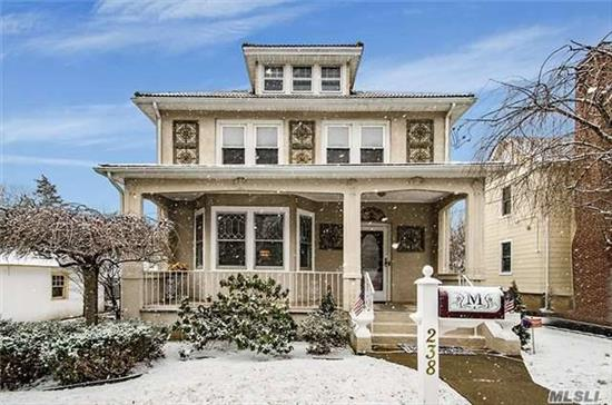 Beautiful And Spacious Village Colonial With Charming Details That Have Been Meticulously Maintained. Features Include; 3/4 Bedrooms, 2 Full Baths, Formal Lr, & Dr, Eik, 2 Sunrooms. Full Basement, 2 Car Detached Garage, Full Walk Up Attic, Large Front Porch And More, A Must See!