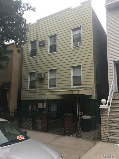 3 Family Home Located Only 1 Block To The Graham Ave. L Train. Private Yard, R6B Zoned. 2nd And 3rd Floors Will Be Vacant On Title.