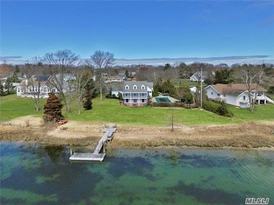 Location, Location, Location! Traditional Cape Cod Perched On 1 Ac With 200 Ft Of Frontage On Jockeys Creek In Southold! Sw Pool, Outdoor Kitchen, Screened In Porch, Dock, 4Bd, 4Ba. Close To All The North Fork Has To Offer.