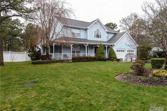 Totally Mint Colonial On A Quiet Cul-De-Sac With Wrap Around Porch On .50 Acre Of Park Like Property. Half Hollow Hills Schools District. 4 Br And 3.5 Baths, Open Floor Plan With Large Foyer And Wood Floors Throughout. Large Eik With Stainless Steel Appliances.