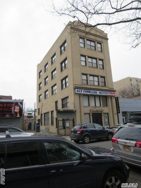 Great, 5 Story Free Stand Bldg, W/ Approx 10, 000 Usable Sq Ft., W/ Elevator, Great For Day Care, Senior Care Facility, Learning Institution, Trade Business, Offices, & Community Facility. Lots Of Potential, Located In Downtown Jamaica Business Dist, Close To Transit Hub, Heavy Foot Traffic (Steps To Jamaica Ave), Near Subway, Buses, Railway (To Jfk)
