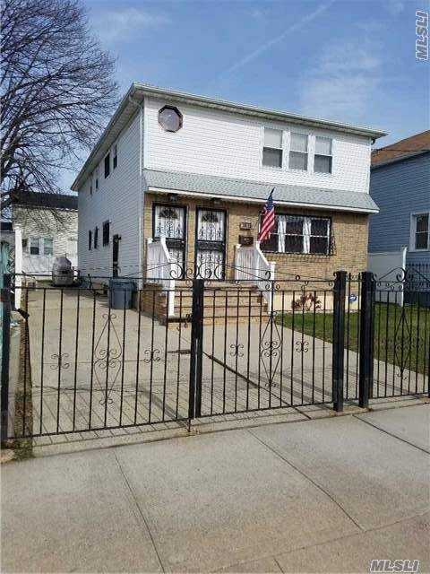 Huge Large Legal 2 Family 3 Bedrooms Over 3 Bedrooms 2 Baths For Each Apt. Master Bedroom Has Private Bathroom Must See Diamond Condition. Long Private Driveway To Park 5 Cars. 2 Heating Systems. Sold As Is.