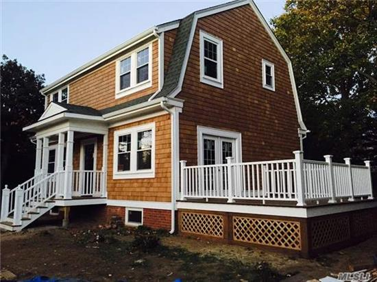 Brand New 1916 Dutch Colonial!! On The Best Block In The Village:Completely & Totally Renovated, Restored, Upgraded W New Roof, Cedar Siding, Custom Trim, New Gutters, All New Windows, 200 Amp Service, All New Plumbing , Heating, Insulation, Flooring, Walls, Kitchen, Baths, Old World Charm Combined W Modern Amenities& Many Special Details.
